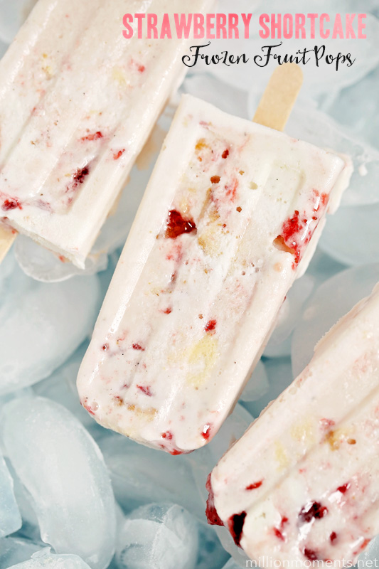 Strawberry Shortcake frozen fruit pops recipe