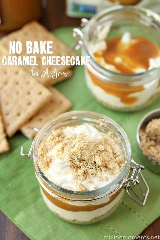 No Bake Caramel Apple Cheesecake