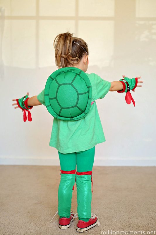 Easy TMNT costume for girls