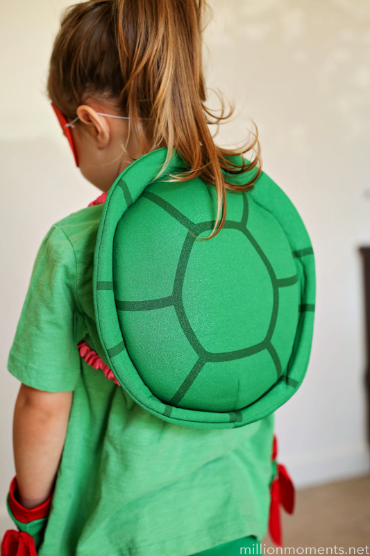 Easy DIY TMNT costume for girls