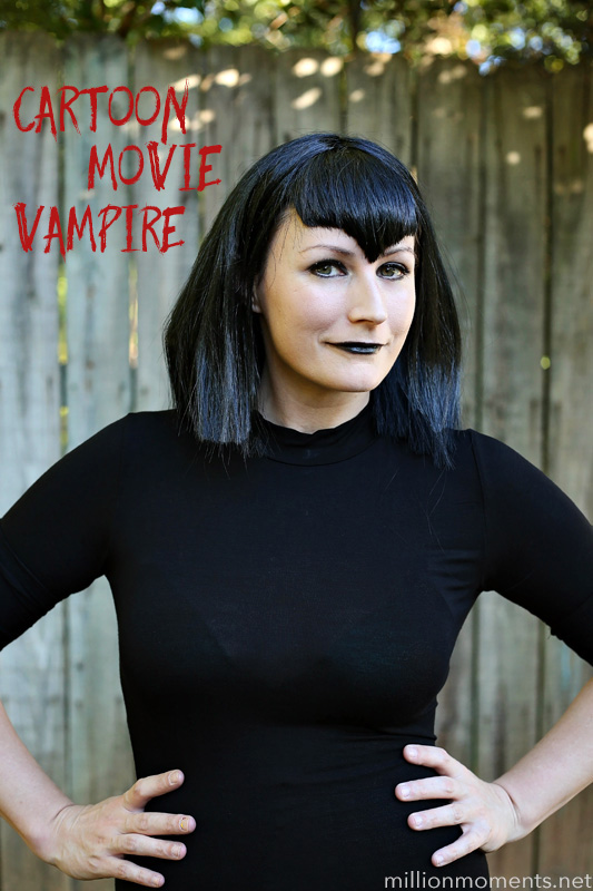 Cartoon vampire makeup tutorial