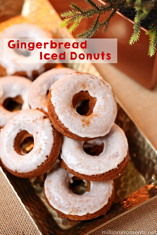 Gingerbread Iced Donuts