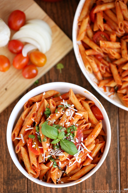 One pot basil penne pasta recipe