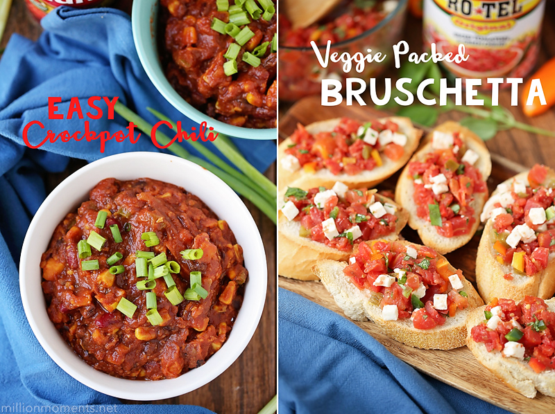 Veggie crockpot chili and simple bruschetta recipe