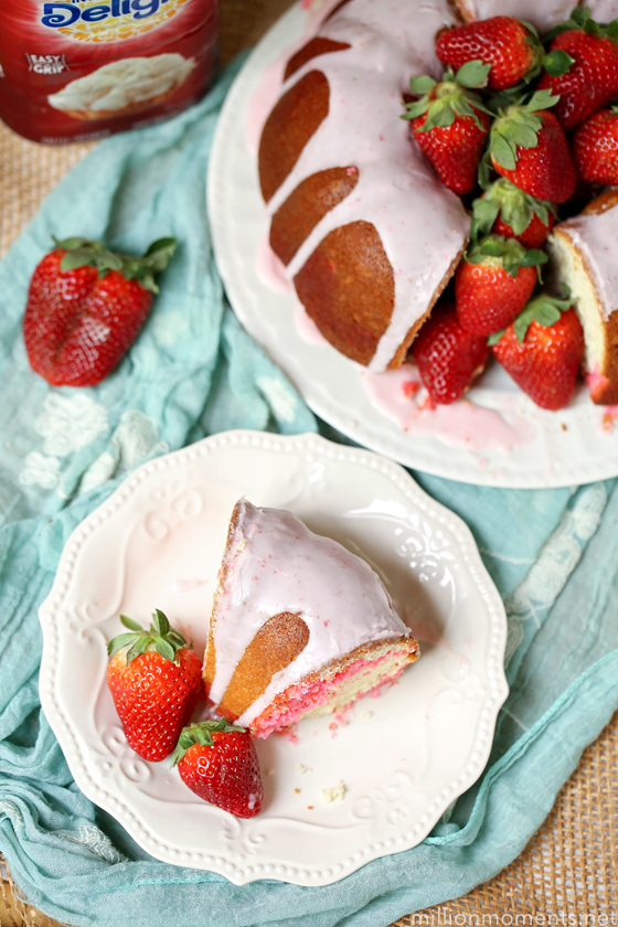 Strawberry Sweet Cream Marble Bundt Cake