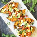 Loaded Fiesta Sweet Potato Boats