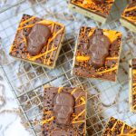Spooky Peanut Butter Cookie Dough Bars
