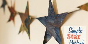 Easy star garland for kids