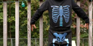 Get Glowing With An Easy Skeleton Costume