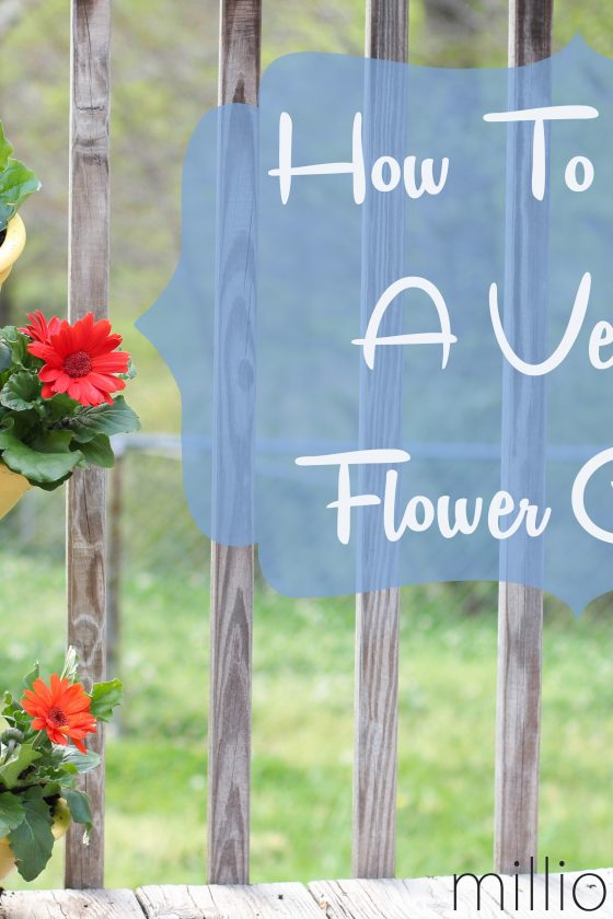 How To Make A Vertical Flower Garden