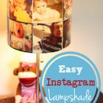 DIY Lampshade With Printed Instagram Photos {Nursery Makeover}