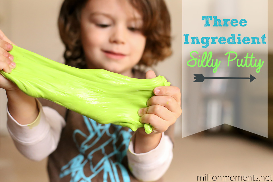 Three Ingredient Silly Putty {5 Minute Kid Craft}