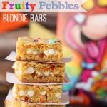 Fruity Pebbles Blondie Bars