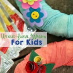 Upcycled Floral Wreath For Kids (Using Capri Sun Pouches!)