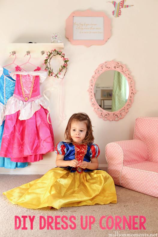 Creating A Fun Dress Up Corner {Princess Makeover Edition}