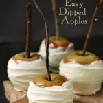 Caramel And White Chocolate Dipped Apples