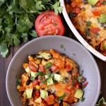 Sweet Potato Enchilada Casserole {Vegetarian}